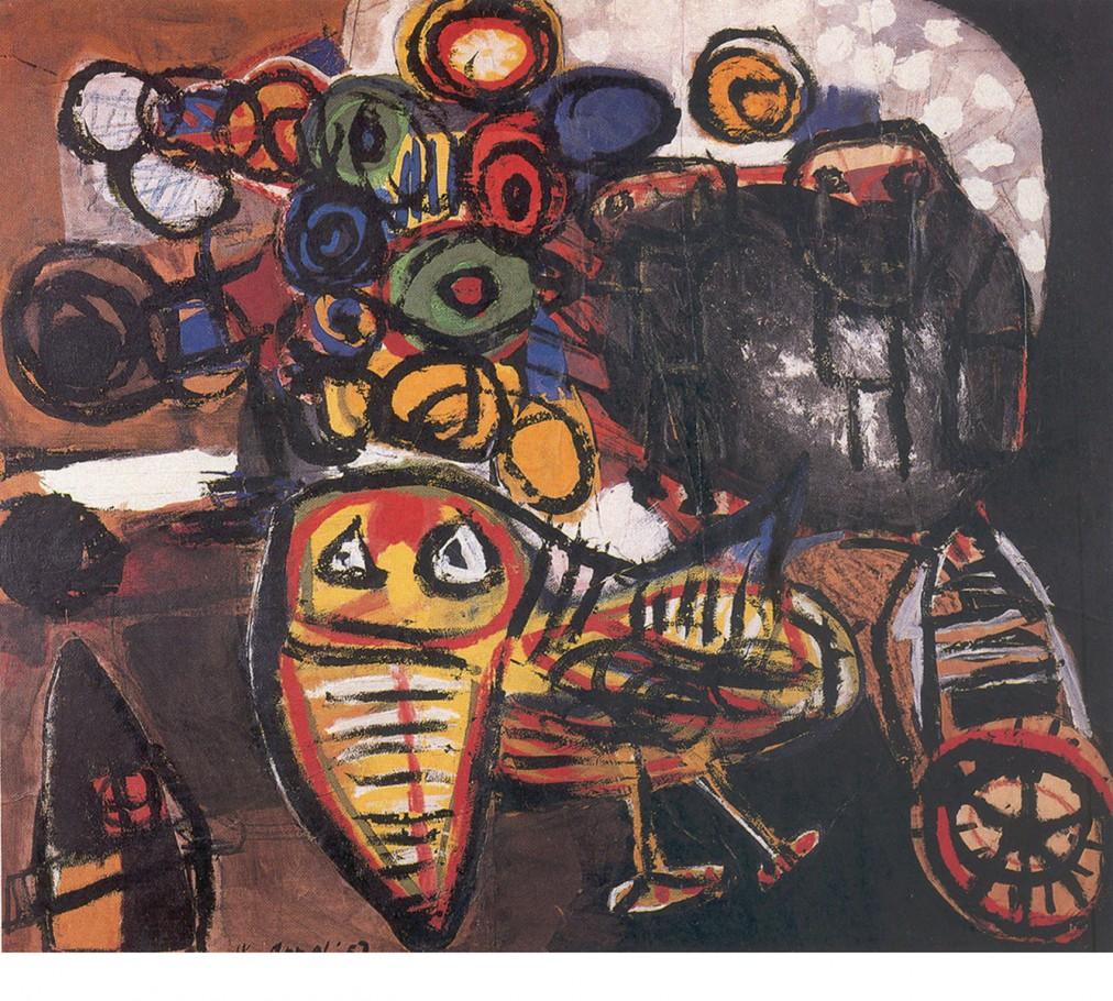 Karel Appel, 1952, cm.87x130