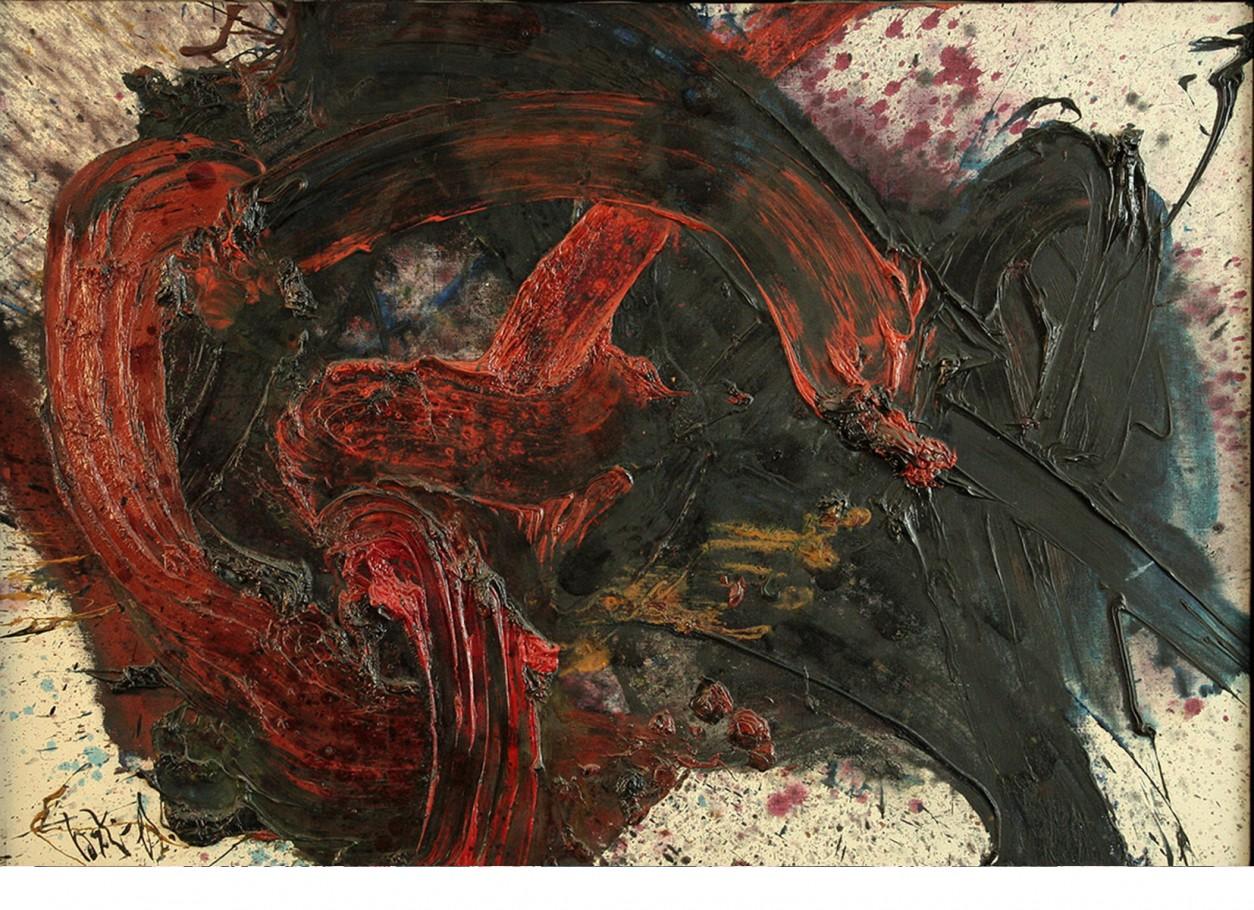 Kazuo Shiraga, 1961, cm.116x81