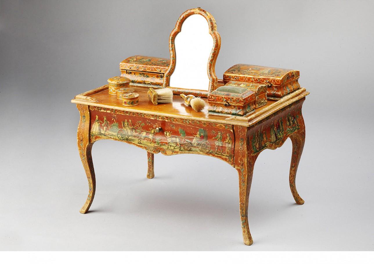 """Servizio da toilette ad """"arte povera"""" in miniatura, Piemonte 1770"""