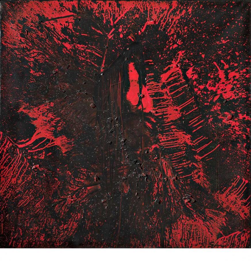 Shozo Shimamoto, 1991, cm. 116x116