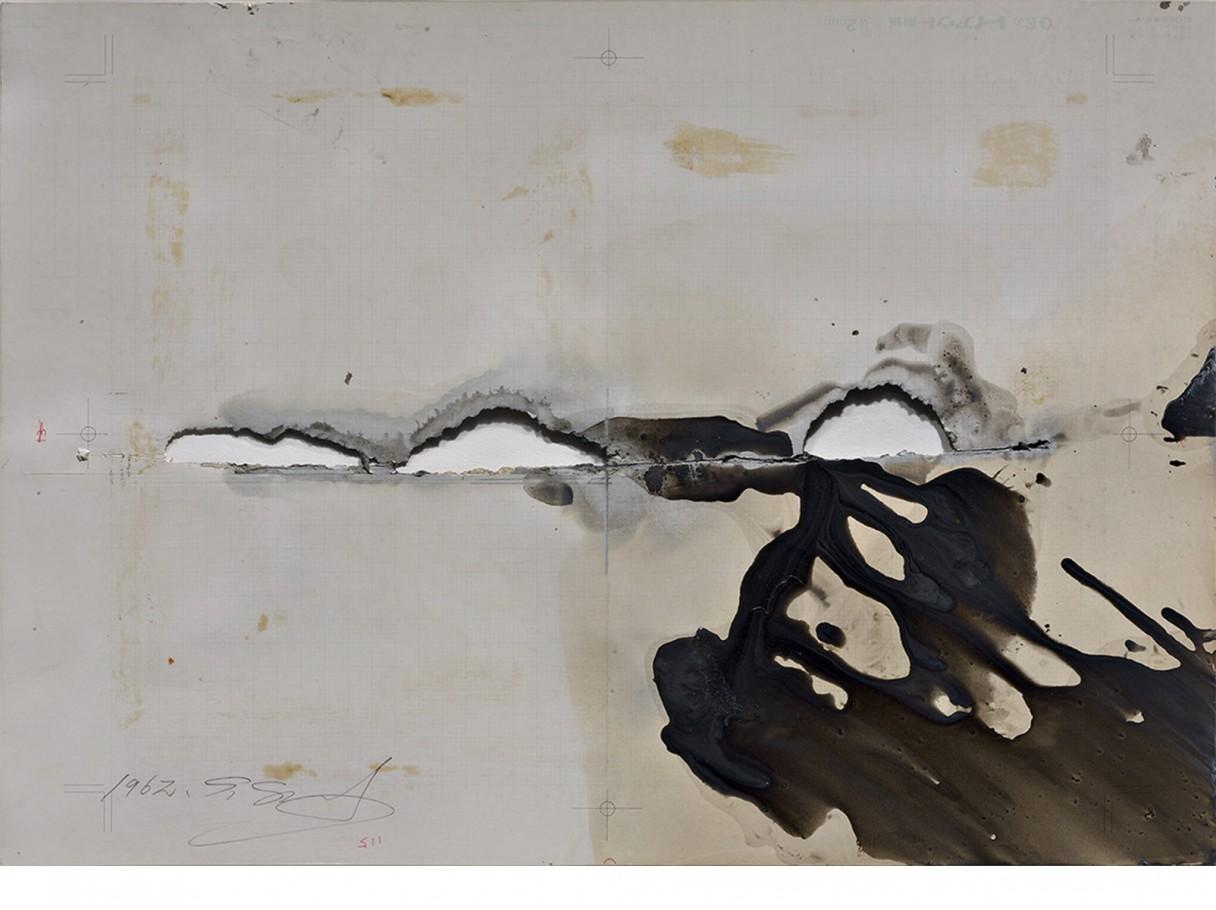 Shozo Shimamoto, 1962, cm. 36,2x51