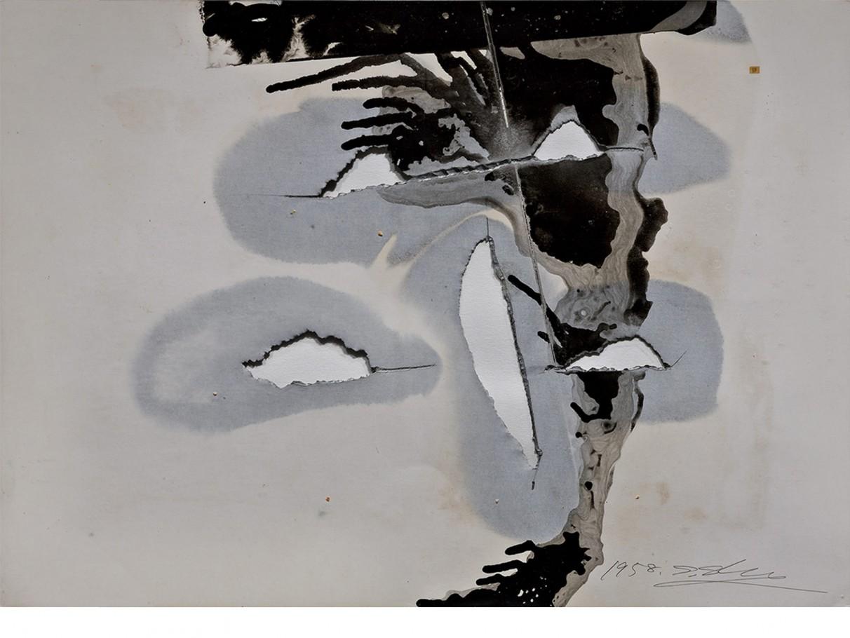 Shozo Shimamoto, 1958, cm. 36,2x51,1