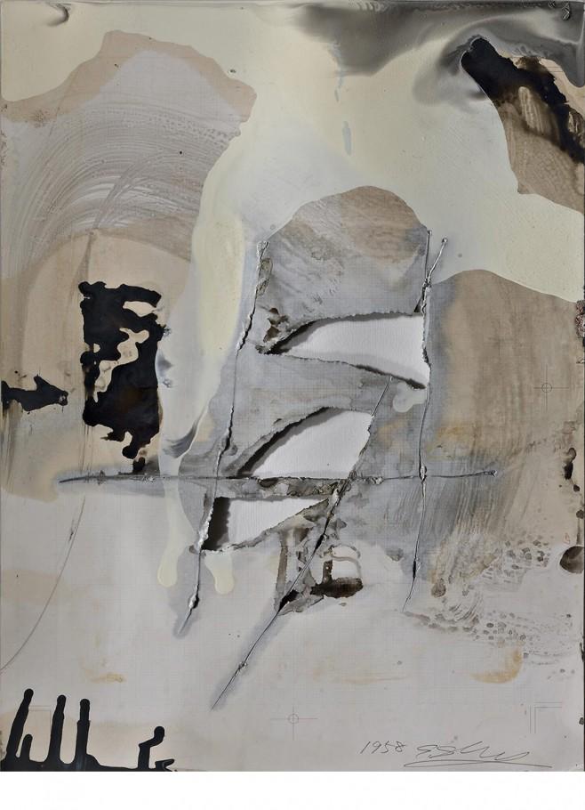 Shozo Shimamoto, 1958, cm. 36,2x51