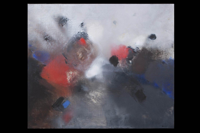Edmondo Bacci, Senza Titolo, 1956 circa, Tempera grassa su tela, cm. 85x100