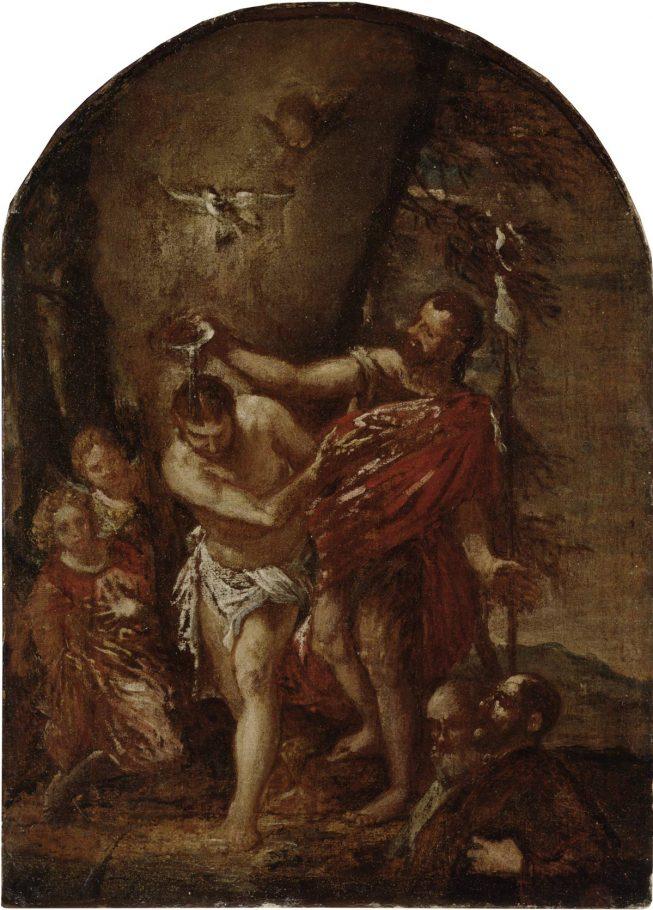 Paolo Veronese, Il Battesimo di Cristo, 1561 circa, olio su tela, cm. 48x34.5