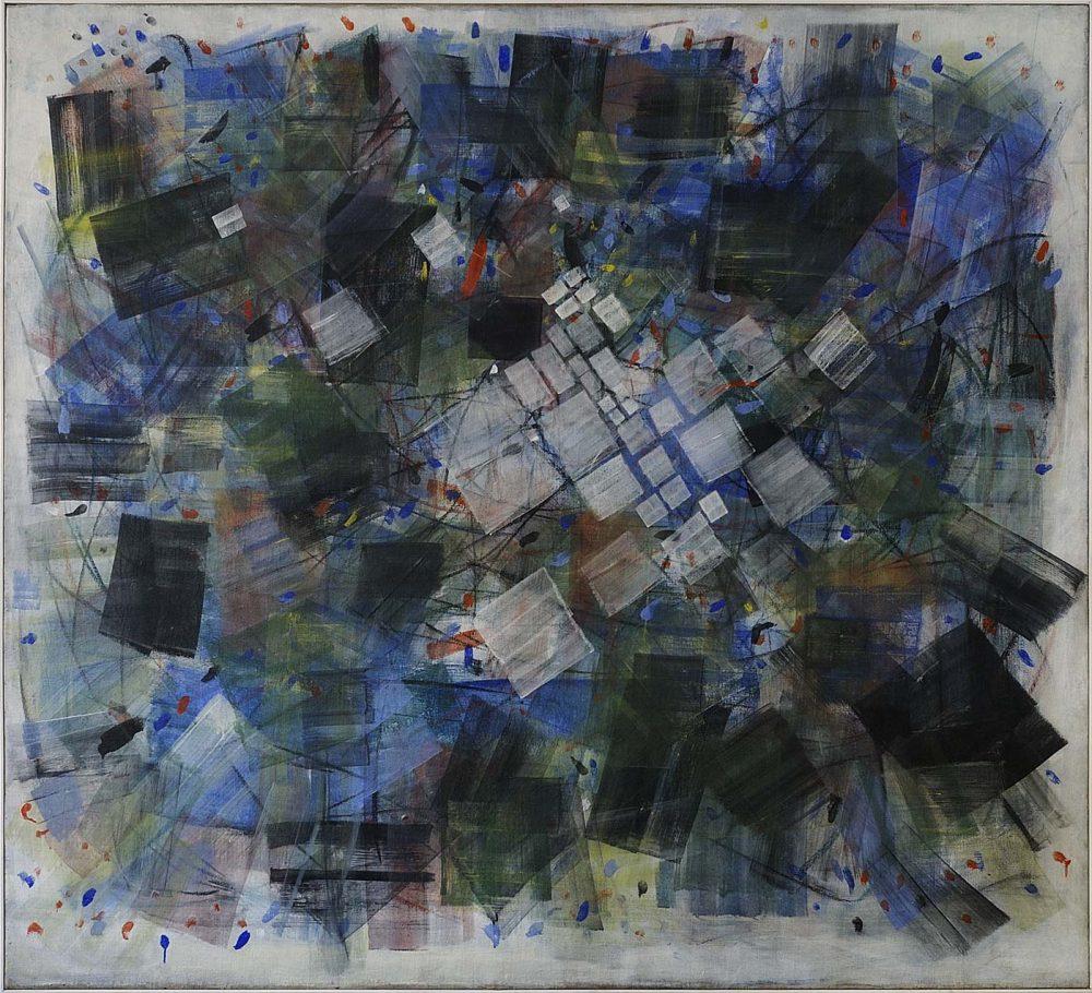 Tancredi Parmeggiani, Senza titolo, 1955, Tempera su tela, cm. 180x200